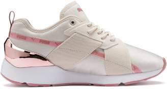 Puma Muse X-2 Metallic Lace-Up Sneakers