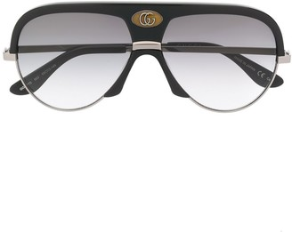 Gucci oversized aviator frame sunglasses
