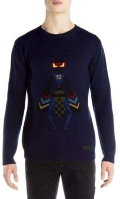 Fendi Superbugs Wool Sweater