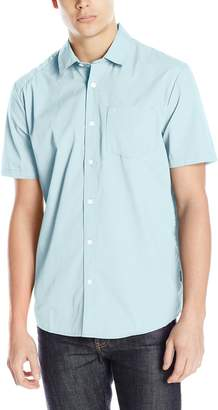 Volcom Men's Everett Solid Short Sleeve Woven Shirt