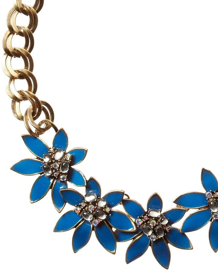 Coldwater Creek Deco floral necklace