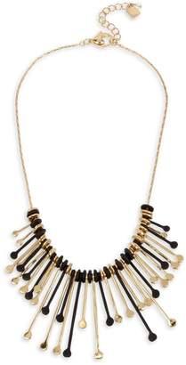 Robert Lee Morris Soho Brown Eyed Girl Mixed Stick Circle Frontal Necklace