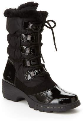 Jambu J Sport By Womens Bettie Block Heel Lace Up Boots Lace-up