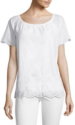 Vineyard Vines Cotton Eyelet Top $98 thestylecure.com