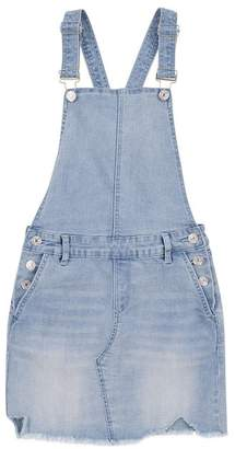 7 For All Mankind Kids Girls 4-6X Denim Overall In Bright Bristol