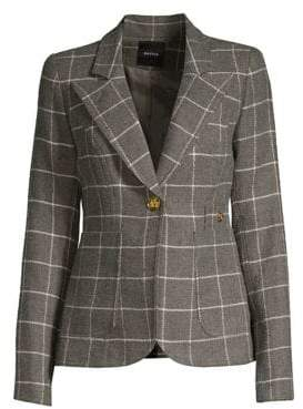 Smythe Duchess Windowpane Check Blazer