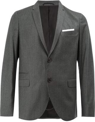 Neil Barrett pattern detailed blazer