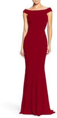 Dress the Population Jackie Off the Shoulder Crepe Trumpet Gown