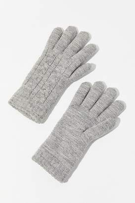 Urban Outfitters Cable Knit Chenille-Lined Glove