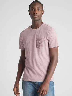 Gap Mix-Fabric Pocket T-Shirt