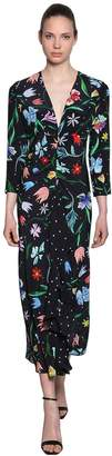 Tulip Multi Printed Silk Midi Dress