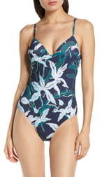 Tory Burch Floral One-Piece Swimsuit