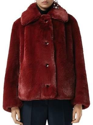 Burberry Alnswick Faux-Fur Coat