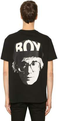 Boy London Boy Visual Printed Jersey T-Shirt