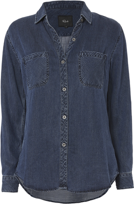 Rails Dark Vintage Button Down Shirt $158 thestylecure.com