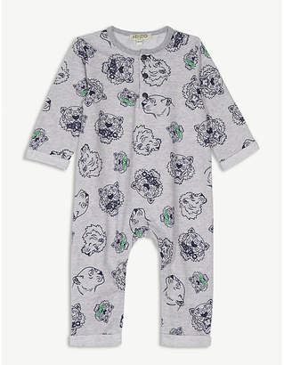 Kenzo Tiger-print cotton all-in-one
