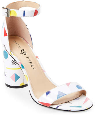 Katy Perry White Clara Shapes Ankle Strap Sandals