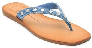 Dolce Vita Women's Clyde Studded Denim Thong Sandals