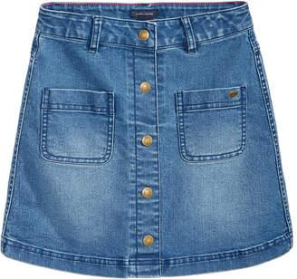 Tommy Hilfiger Button-Front Denim Skirt, Big Girls (7-16) $39.50 thestylecure.com