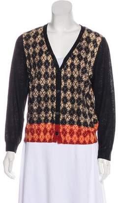 Dries Van Noten Printed Knit Cardigan