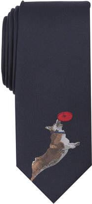 Bar III Men's Flying Corgi Tie, Created for Macy's