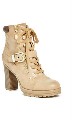 GByGUESS G By Guess Women's Grovie Heeled Combat Booties $79.99 thestylecure.com