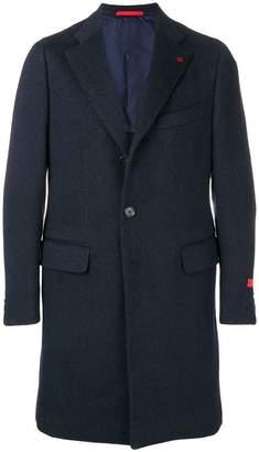 Isaia single breasted midi coat
