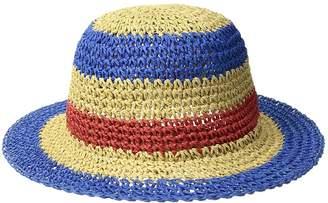 San Diego Hat Company Kids Paper Crochet Stripe Sun Brim Caps