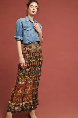Anna Sui Pleated Maxi Skirt