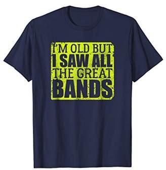 Mens Vintage Music Lover Band Concert Funny Shirt Cool Gift