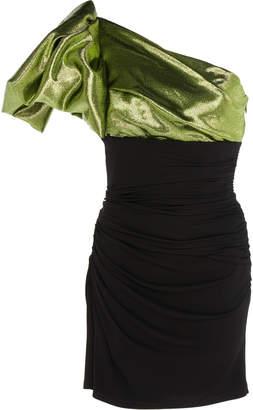 Paule Ka One-Shoulder Ruched Jersey Dress
