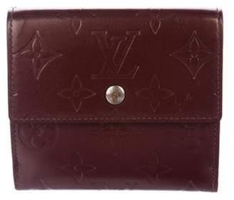 Louis Vuitton Monogram Mat Elise Wallet