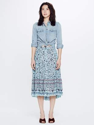 Mother XiRENA Kaia Xanadue Printed Gauze Skirt Blue Lagoon