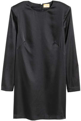 H&M Short Satin Dress - Black