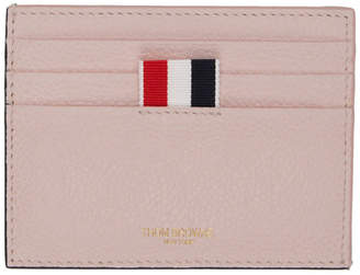 Thom Browne Pink and Green Bicolor Card Holder