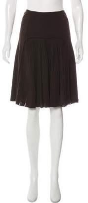 Saint Laurent Knee-Length Pleated Skirt