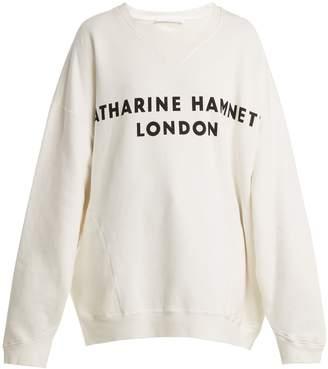 Katharine Hamnett Vince logo-print cotton sweatshirt