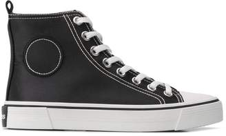 Marc Jacobs hi-top satin-effect sneakers
