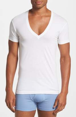 2xist Slim Fit Pima Cotton Deep V-Neck T-Shirt