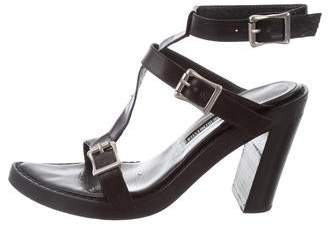 Ann Demeulemeester Leather Ankle Strap Sandals