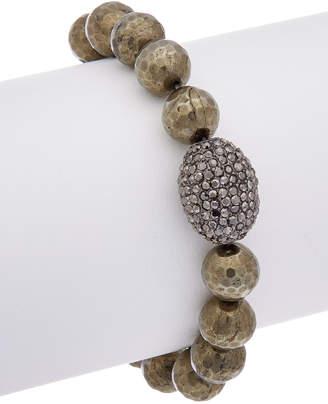 Rachel Reinhardt Hematite & Crystal Stretch Bracelet