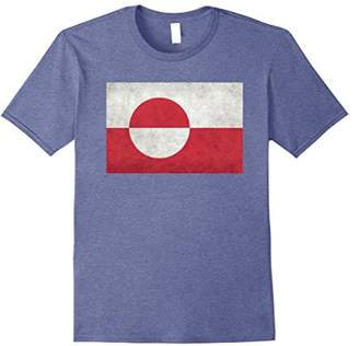 Greenland Flag T-Shirt with grungy textures