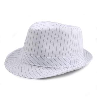 7de40b2966d63 doublebulls hats Fedoras Hat Trilby Hat Women Men Autumn Stripe Classic Jazz  Hat Curling Hats