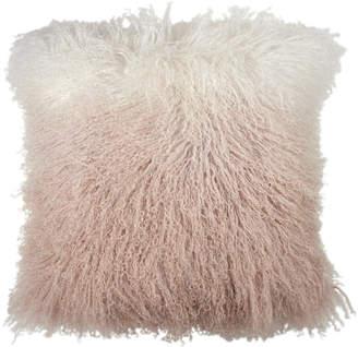 Michael Aram 18x18 Dip Dye Curly Sheepskin Pillow Bedding