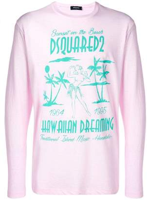 DSQUARED2 Hawaiian Dreaming print T-shirt
