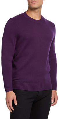 Neiman Marcus Men's Cashmere Ribbed Crewneck Sweater