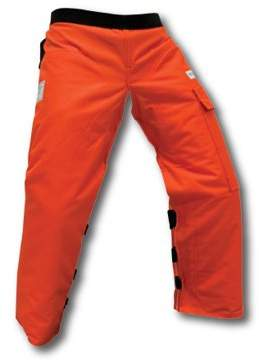 Forester Apron Style Chainsaw Chap Orange. Part Number CHAP440-O. Adjustable Waist. Length 40 Inch