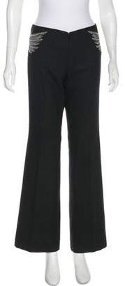 Tory Burch Wool Mid-Rise Pants