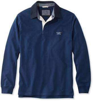 L.L. Bean L.L.Bean Lakewashed Rugby, Traditional Fit Long-Sleeve Solid