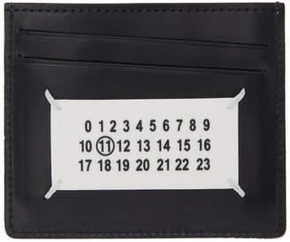 Maison Margiela White and Black Logo Card Holder